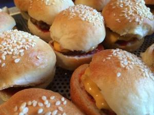 Minis hamburgers maison